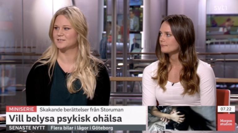 Nellie och Erica i Morgonstudion i SVT